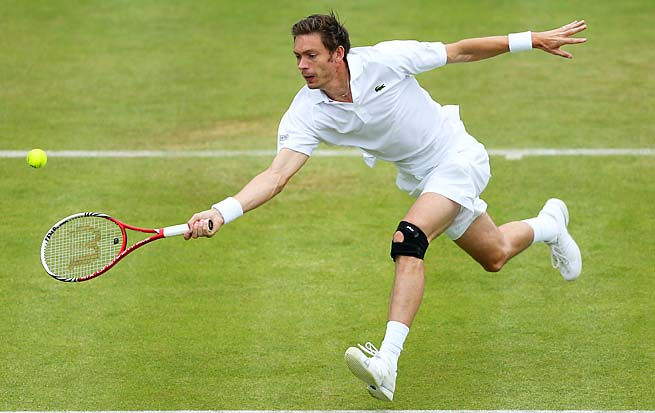 Nicolas Mahut was losing to Andy Murray in the Queen's second round when rain hit.