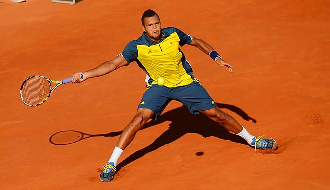 Jo-Wilfried Tsonga didn't lose a set en route to the semifinals, where he was swept by David Ferrer.