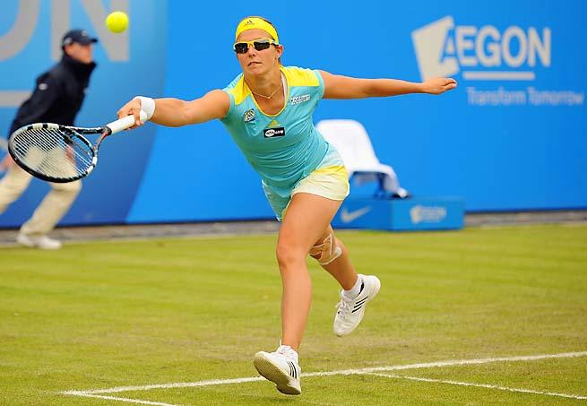 Belgium's Kirsten Flipkens, 27, is ranked a career-high No. 20.