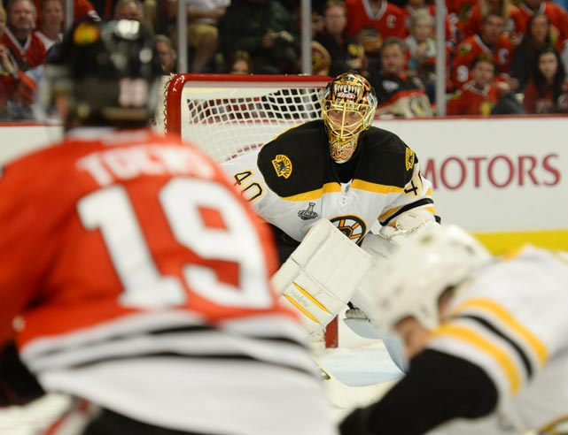 Tuukka Rask was beaten for four goals in Game 1 after allowing just two in four games during the Bruins' Eastern Conference Finals sweep of the Pittsburgh Penguins.