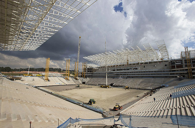 Itaquerao stadium in Sao Paulo, Brazil will be venue for the opening game and ceremony of the 2014 FIFA World Cup.