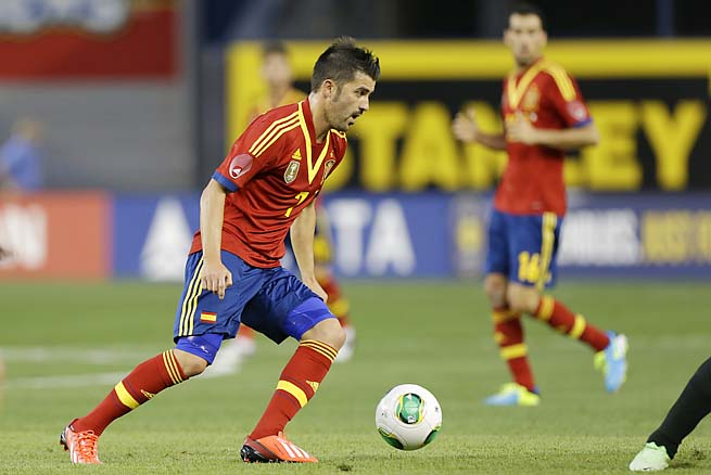David Villa has long been Spain's star striker, but he's being pushed now.