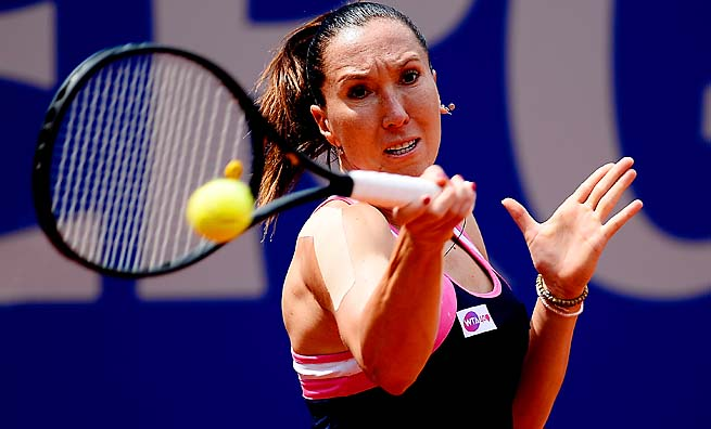 Jelena Jankovic made the French Open quarterfinals, her best major result in three years.