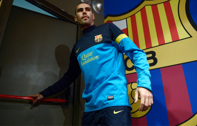 Despite interest in playing elsewhere, Victor Valdes will play out the final year of his contract with Barcelona.