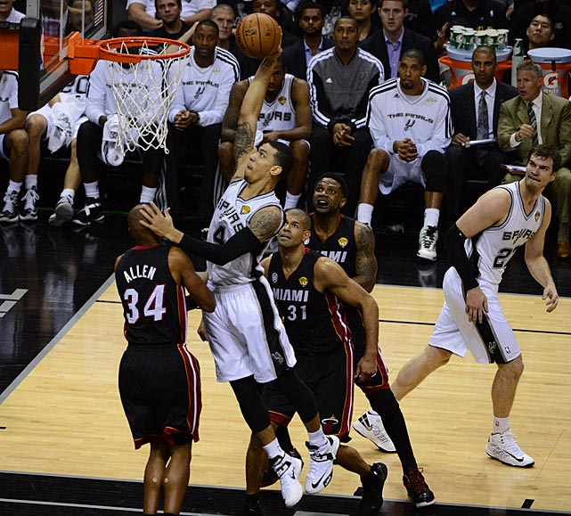 Danny Green continued his assault from three-point range (3-of-5), but also attacked the rim.