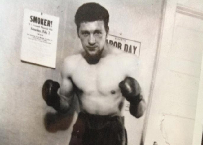 Burkman's great grandfather, Gene Pearce, was a professional boxer from 1937-1950.