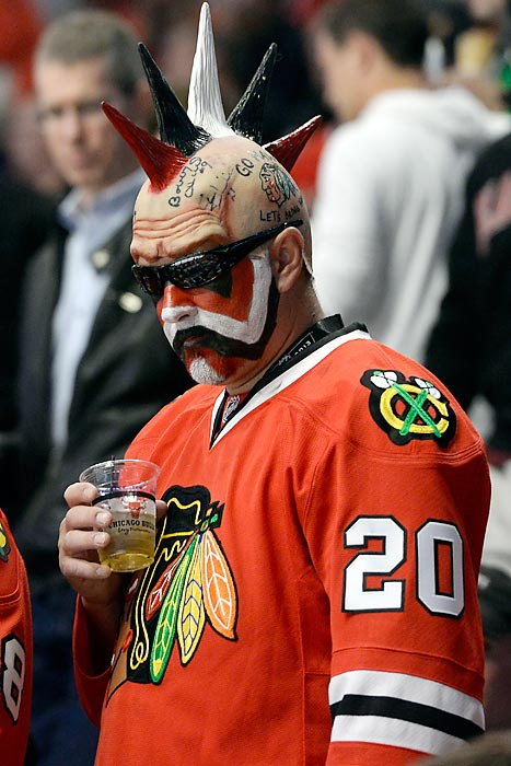 The grind of triple overtime takes its toll during Game 1 of the Stanley Cup Final in Chicago.