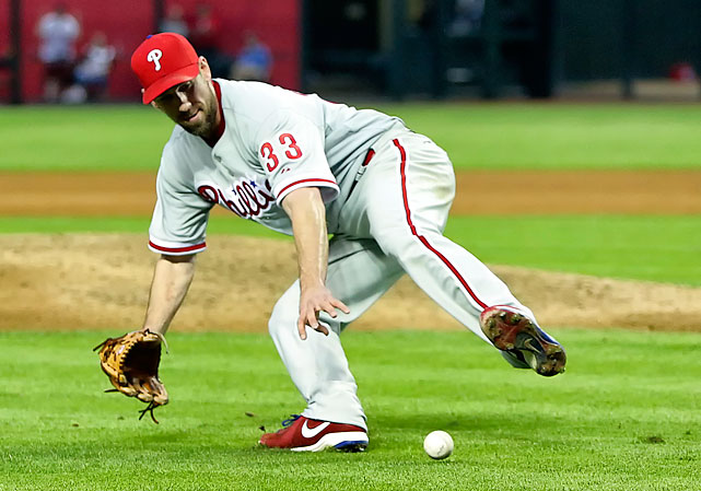 Lee held together the Phillies' rotation early in 2013 amidst a plethora of pitching woes, including injuries to Roy Halladay and John Lannan.