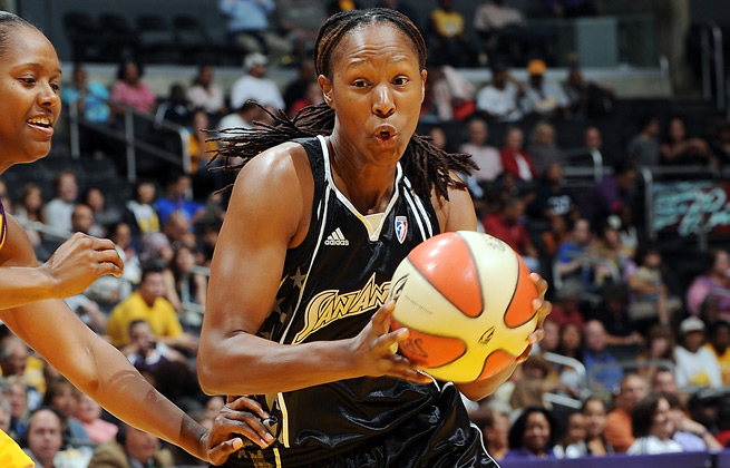 Ex-WNBA player Chamique Holdsclaw was sentenced to probation and a fine after an incident with the Tulsa Shock's Jennifer Lacy.