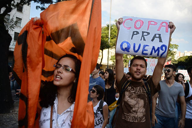 Thousands marched in Brazil to rage against the increases in bus and subway fares.