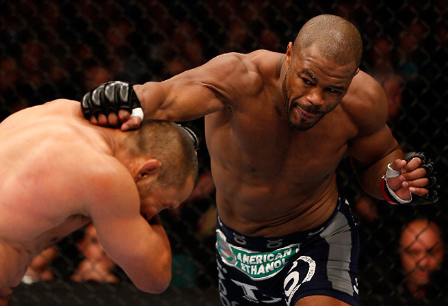 Rashad Evans found himself on the defensive for portions of the fight, but attacked when it mattered.