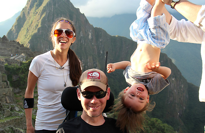 Steve Gleason, surrounded by wife Michel and son Rivers.
