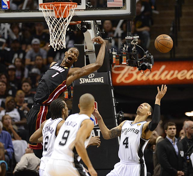 Chris Bosh couldn't get the handle on this loose ball on a night in which Miami was outrebounded 36-34.