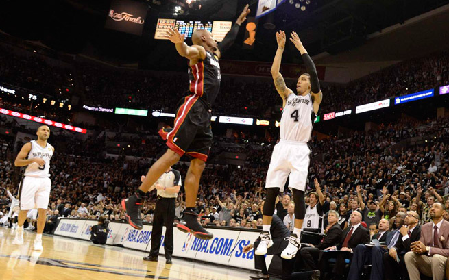 Danny Green hit six threes in Game 5, breaking Ray Allen's record for most threes in one NBA Finals.