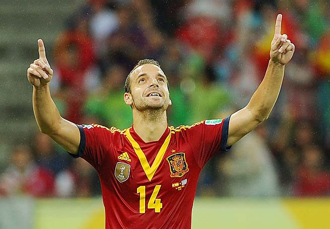 Roberto Soldado scored in Spain's 2-1 win over Uruguay in their Confederations Cup opener.