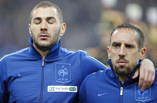 Karim Benzema, Franck Ribery and France are likely headed to a playoff to make the World Cup.