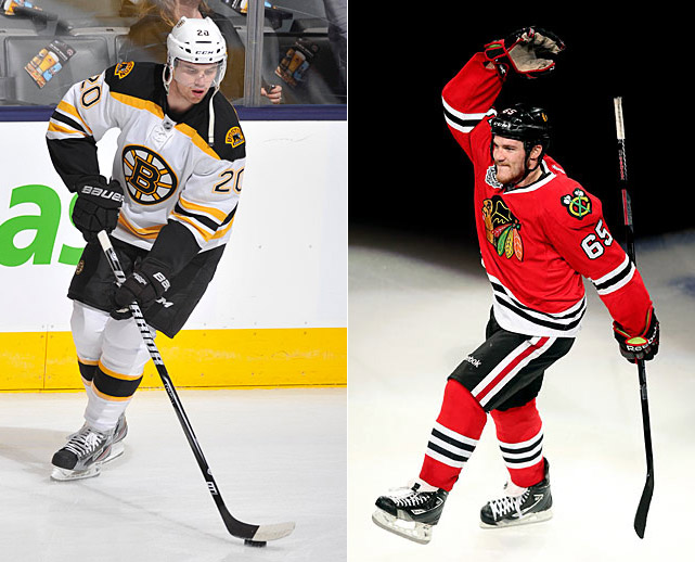 Cup finalists Boston and Chicago both had supporting casts that made names for themselves. Versatile, swift-skating Bruins winger Daniel Paille was a member of the NHL's best fourth line, a key to Boston's postseason success in 2013. Moved to a new third line in Game 2 of the Cup final vs. Chicago, he scored in overtime to tie the series and then tallied what proved to be the winner in the Bruins' 2-0 win in Game 3. The Hawks got clutch contributions from winger Bryan Bickell, center Michal Handzus, and defenseman Johnny Oduya during their run to the final. Once there, agitating energy winger Andrew Shaw, a 2011 fifth-round pick who'd been passed over in two previous NHL Drafts, earned a measure of fame when he scored to end the epic 3-OT Game 1.