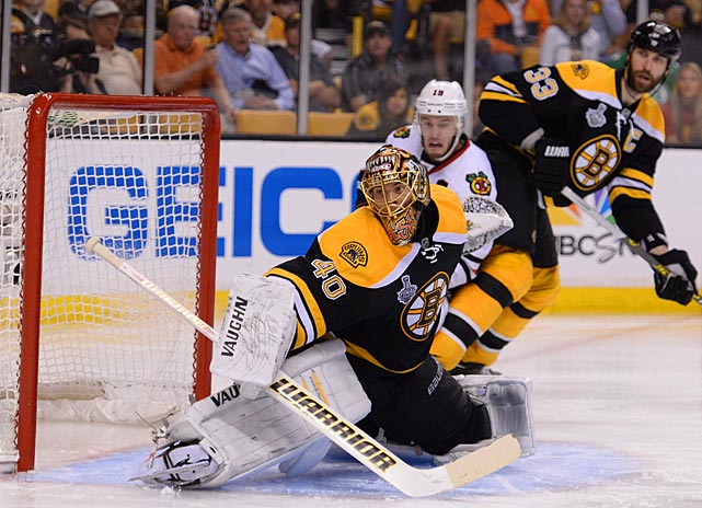 Boston goaltender Tuukka Rask had an admittedly easy evening, thanks to the stout defensive work in front him. He finished the game with 28 saves in his third shutout of the postseason.