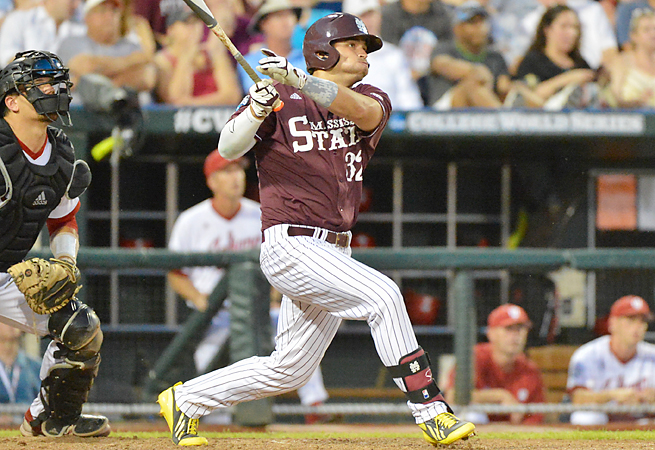 Trey Porter's two-run, eighth-inning hit gave Mississippi St. a lead it wouldn't give up in a over Indiana.