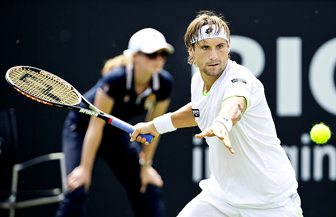 Less than two weeks after losing in the French Open finals, David Ferrer lost in the first round of the Topshelf Open.