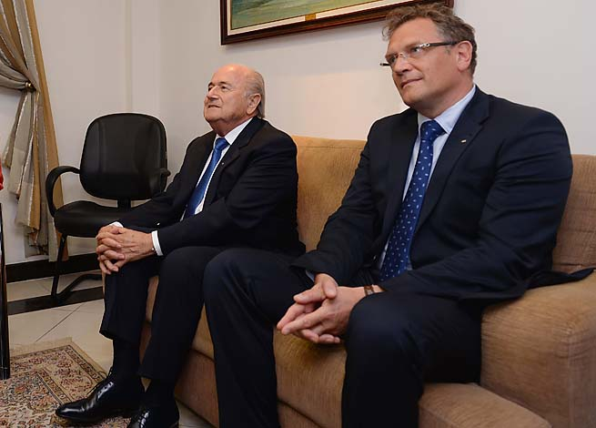 Jerome Valcke (right) has been by Sepp Blatter's side since 2007.