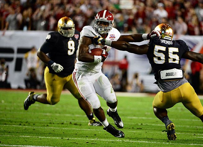 Alabama's rout of Notre Dame in last season's title game was the latest in a string of recent blowouts.