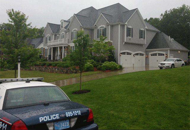 Massachusetts State Police searched the home of New England Patriots tight end Aaron Hernandez on Tuesday night in connection with a possible homicide.
