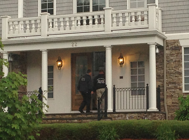 Police spoke with Hernandez on Monday before searching the tight end's home on Tuesday evening.