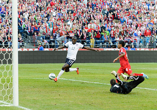 Jozy Altidore scored from close range in the 73rd minute to send the U.S. closer to the World Cup.