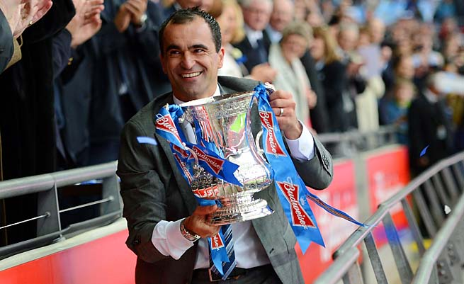 Roberto Martinez and Wigan won the FA Cup final over Manchester City last season.