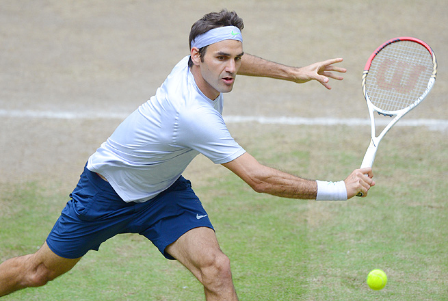 Roger Federer was one of four players with one-handed backhands in the semifinals in Halle, Germany.