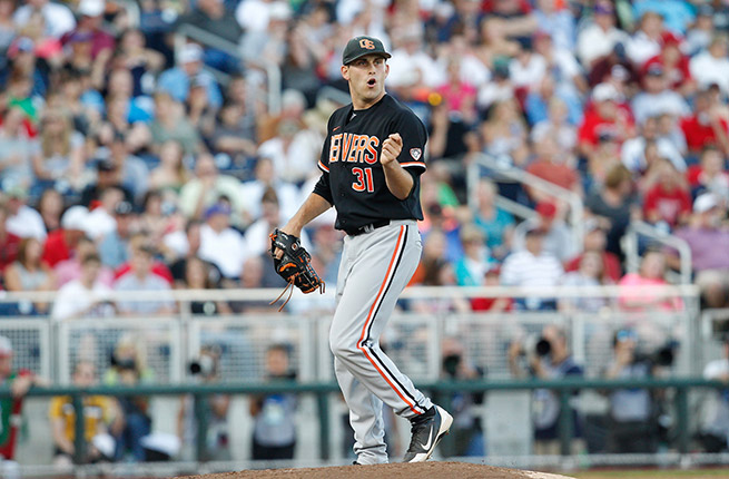 Oregon State's Matt Boyd pitched four-hit ball to shut down the Hoosiers and eliminate them from Omaha.