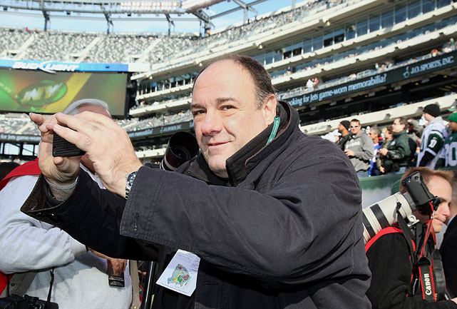 James Gandolfini attends the New York Jets game against the Houston Texans at MetLife Stadium in East Rutherford, NJ. The Jets won 30-27.