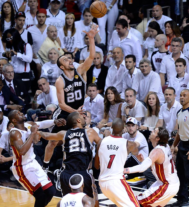 Manu Ginobili releases a floater. Ginobili finished with 18 points.