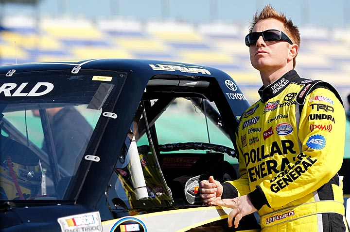 Driver Jason Leffler much preferred dirt track racing to NASCAR's circuits.