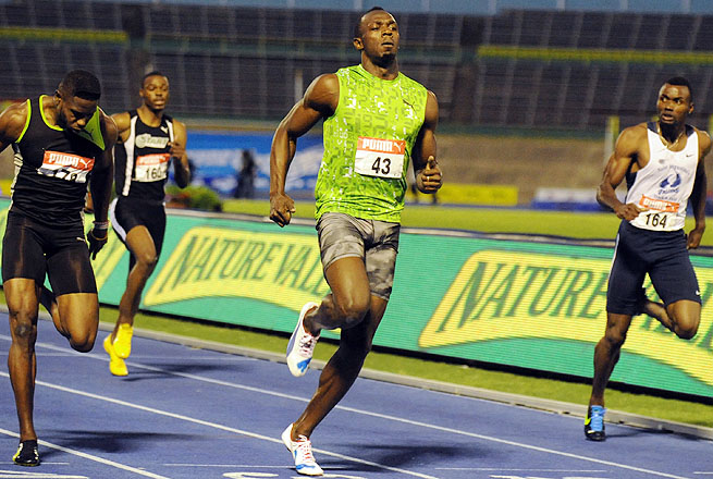 Usain Bolt clocked a 9.94 seconds in the 100 meters to win the finals of the Jamaica national championships.