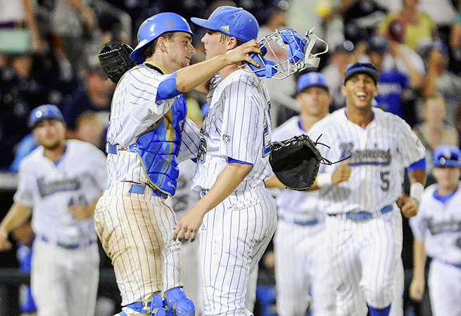 After beating North Carolina, the Bruins (47-17) will begin the best-of-three finals Monday against Mississippi State.