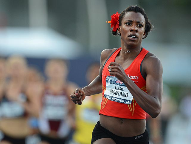 Alysia Montano won her semifinal to advance to the final of the 800-meter run.