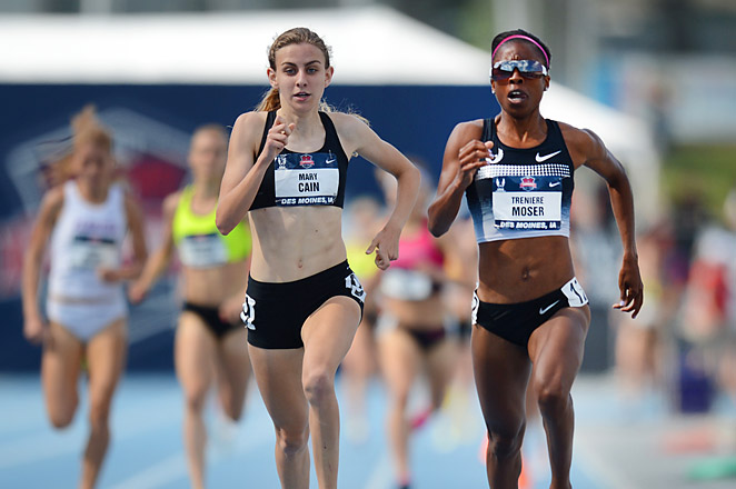 Cain's second-place 1500m finish makes her what officials believe is the youngest member ever of a U.S. world championship team.