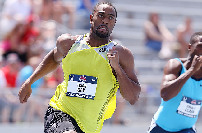 Gay won the 200 meters in 19.74 seconds Sunday, running the fastest time in the world this season.
