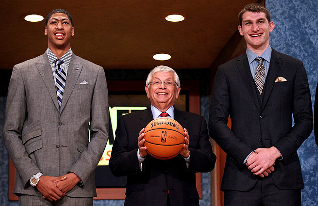 First-round picks in 2012, Anthony Davis (left) and Tyler Zeller both had plenty to learn as rookies.