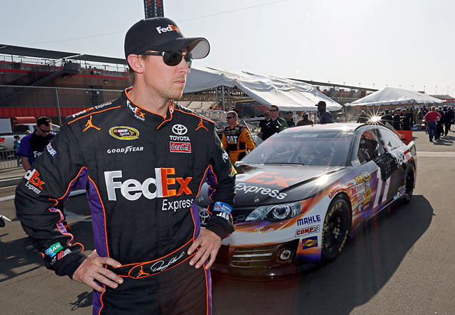 A crash, an injury and an underperforming car have left Denny Hamlin winless so far this year.