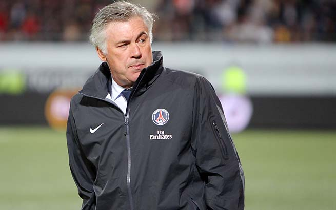 Carlo Ancelotti led Paris St.-Germain to the Ligue 1 title this past season.