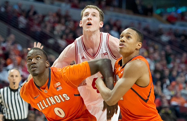 Cody Zeller (center) is expected to be a lottery pick in the 2013 NBA draft.