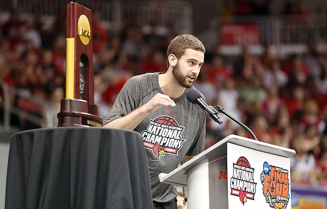 Months after helping Louisville win the national title, Luke Hancock lost his father to cancer.