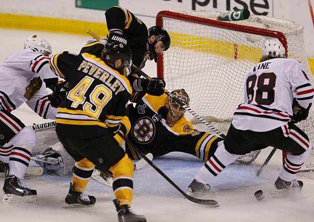 "The Blackhawks stormed back after Boston took a 2-1 lead in the third period. ""It's obviously shocking when you think you have everything under control,"" said Bruins goalie Tuukka Rask."