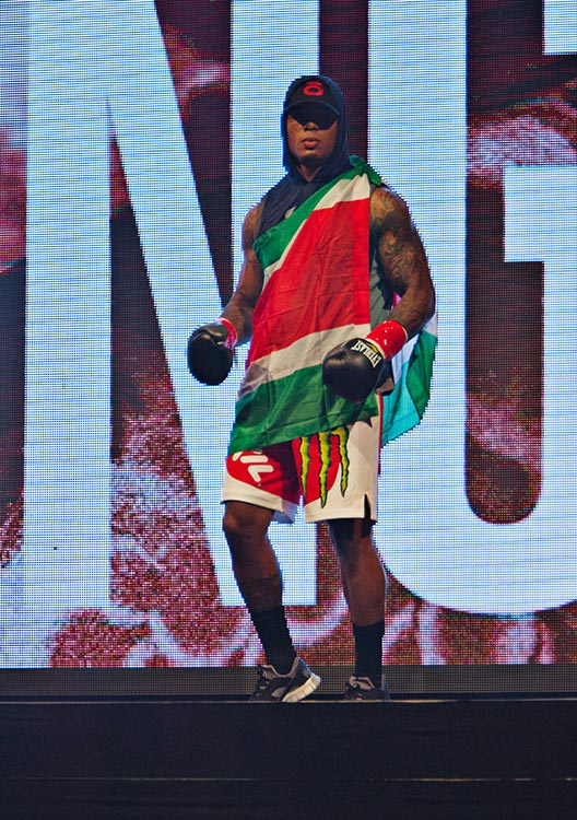 Tyrone Spong, walkout to his first fight of the night.