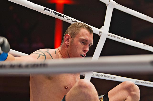 Michael Duut, knocked out in the first round of the fight against Tyrone Spong.