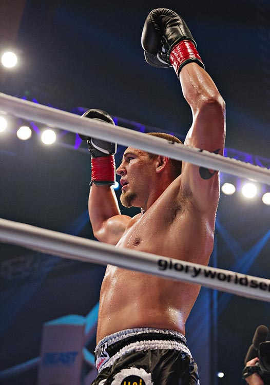 Dustin Jacoby after his victory.