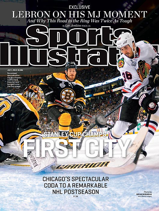 The Chicago Blackhawks won the Stanley Cup Final in spectacular fashion, scoring the winning goal with 59 seconds to play in Game 6 at Boston. Check out this week's issue of Sports Illustrated to read more about the series.